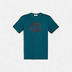 COACH 75881 - REXY BY GUANG YU SHORT SLEEVE T-SHIRT TEAL