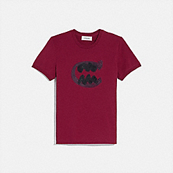 COACH 75889 - REXY BY GUANG YU T-SHIRT FUSCHIA