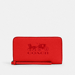 COACH 75908 - JES LARGE PHONE WALLET WITH HORSE AND CARRIAGE QB/MIAMI RED