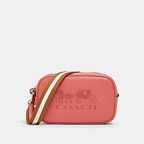 COACH 75952 JES CONVERTIBLE BELT BAG IM/BRIGHT CORAL