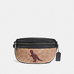 COACH 76001 - BELT BAG IN SIGNATURE CANVAS WITH REXY BY SUI JIANGUO V5/TAN BLACK