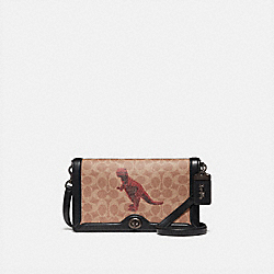 COACH 76012 - RILEY IN SIGNATURE CANVAS WITH REXY BY SUI JIANGUO V5/TAN BLACK