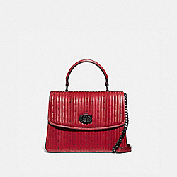 COACH 76028 Parker Top Handle With Quilting And Rivets V5/RED APPLE