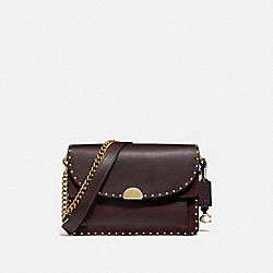 COACH 76045 Dreamer Shoulder Bag With Rivets B4/OXBLOOD