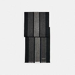 COACH 76059 - VARSITY SPORT SCARF BLACK / CHARCOAL