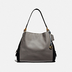 COACH 76070 Dalton 31 In Colorblock With Snakeskin Detail B4/HEATHER GREY MULTI