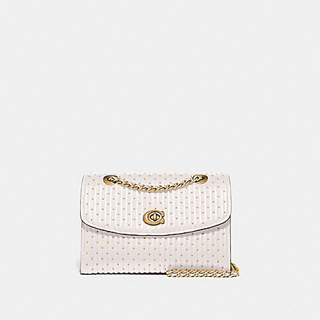 COACH PARKER WITH QUILTING AND RIVETS - BRASS/CHALK - 76081