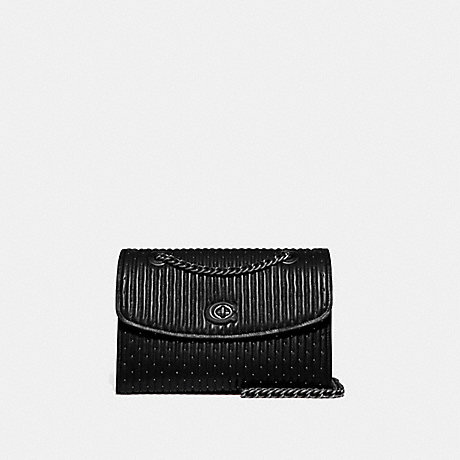 COACH PARKER WITH QUILTING AND RIVETS - PEWTER/BLACK - 76081