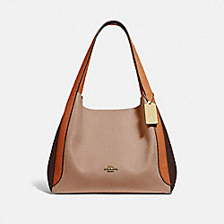 HADLEY HOBO IN COLORBLOCK - 76088 - BRASS/TAUPE GINGER MULTI