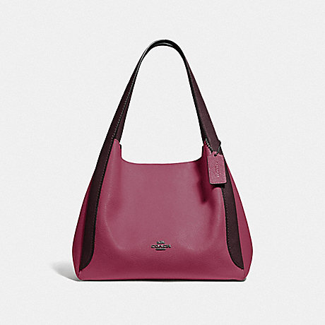 COACH 76088 HADLEY HOBO IN COLORBLOCK GUNMETAL/DUSTY-PINK-MULTI