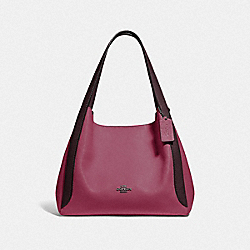 COACH 76088 - HADLEY HOBO IN COLORBLOCK GUNMETAL/DUSTY PINK MULTI