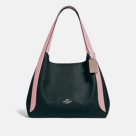 COACH 76088 HADLEY HOBO IN COLORBLOCK V5/PNE GRN AURORA MULTI