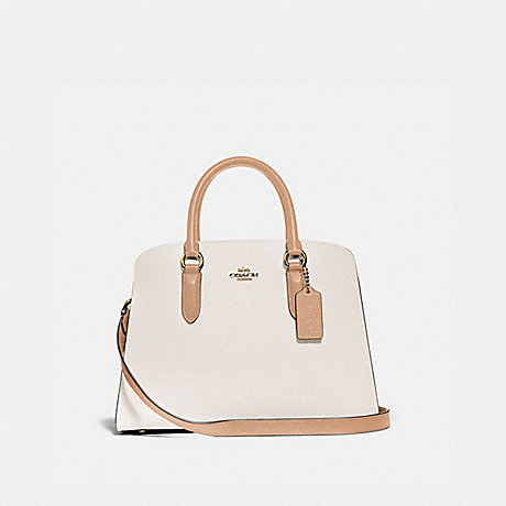 COACH 76089 CHANNING CARRYALL IN COLORBLOCK GOLD/CHALK-MULTI