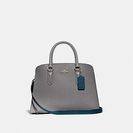 COACH 76089 CHANNING CARRYALL IN COLORBLOCK GOLD/HEATHER-GREY-MULTI