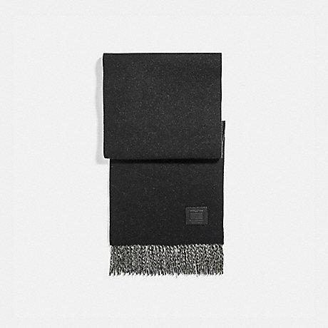 COACH 76090 SIGNATURE SOLID CASHMERE MUFFLER BLACK/GREY