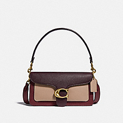 TABBY SHOULDER BAG 26 IN COLORBLOCK - 76105 - BRASS/WINE MULTI