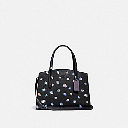 COACH 76123 - CHARLIE CARRYALL 28 WITH VINTAGE ROSEBUD PRINT BLACK MULTI/GUNMETAL