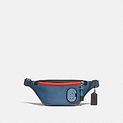 COACH 76143 Rivington Belt Bag 7 In Colorblock With Coach Patch JI/TRUE BLUE MULTI