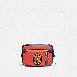 COACH 76158 Academy L-pack In Colorblock With Coach Patch OXBLOOD MULTI/BLACK COPPER