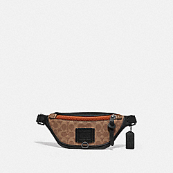 COACH 76187 Rivington Belt Bag 7 In Signature Canvas KHAKI/BLACK COPPER