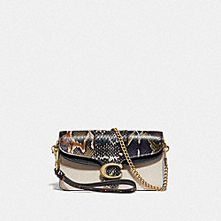 COACH 76198 - TABBY CROSSBODY WITH SNAKESKIN DETAIL CHALK MULTI/BRASS