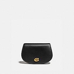COACH 76216 - SADDLE BELT BAG BLACK/BRASS