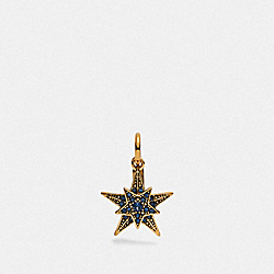 COACH 76225 - STAR CHARM BLUE/GOLD