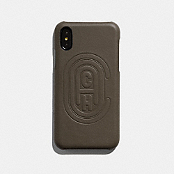 IPHONE X/XS CASE WITH COACH PATCH - 76234 - MOSS