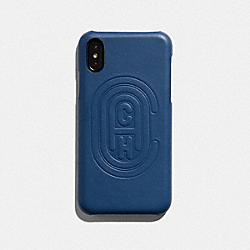 COACH 76234 - IPHONE X/XS CASE WITH COACH PATCH TRUE BLUE