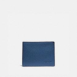 COACH 76296 - SLIM BILLFOLD WALLET IN COLORBLOCK TRUE BLUE