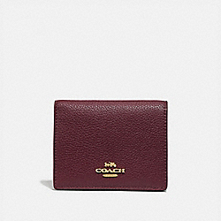SMALL SNAP WALLET IN COLORBLOCK - 76301 - GD/VINTAGE MAUVE MULTI