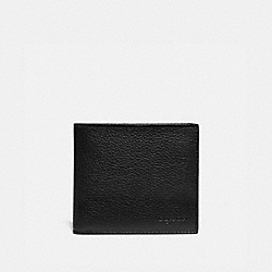DOUBLE BILLFOLD WALLET WITH SIGNATURE CANVAS BLOCKING - 76311 - BLACK/KHAKI