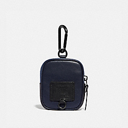 HYBRID POUCH 8 WITH SIGNATURE CANVAS BLOCKING - 76333 - CHARCOAL SIGNATURE MULTI