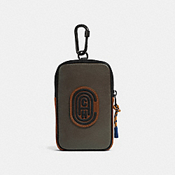 COACH 76334 Hybrid Pouch 10 In Colorblock With Coach Patch MOSS MULTI