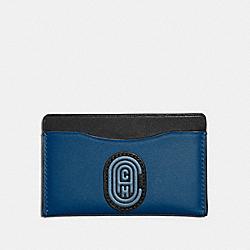 COACH 76342 Small Card Case In Colorblock With Coach Patch TRUE BLUE MULTI