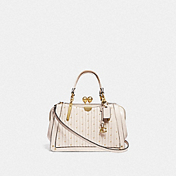 COACH 76347 - KISSLOCK DREAMER 21 WITH QUILTING AND RIVETS CHALK/BRASS