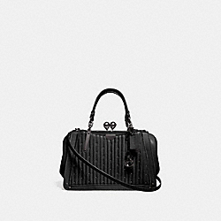 COACH 76347 - KISSLOCK DREAMER 21 WITH QUILTING AND RIVETS BLACK/PEWTER