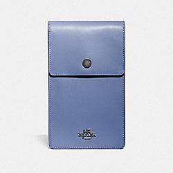 COACH 76363 - SNAP PHONE CROSSBODY GUNMETAL/STONE BLUE