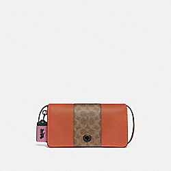 COACH 76368 Dinky With Signature Canvas Blocking V5/TAN SUNSET