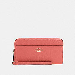 COACH 76517 Accordion Zip Wallet IM/BRIGHT CORAL