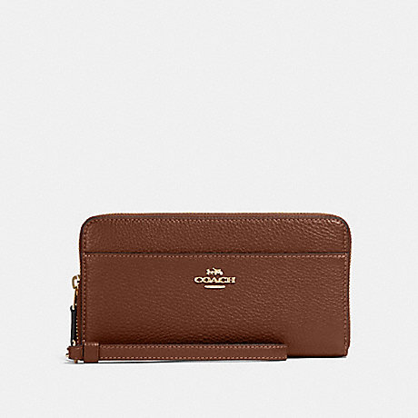 COACH 76517 ACCORDION ZIP WALLET IM/SADDLE 2