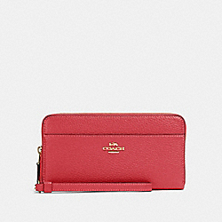 COACH 76517 Accordion Zip Wallet IM/POPPY