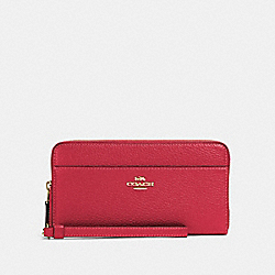 COACH 76517 - ACCORDION ZIP WALLET WITH WRISTLET STRAP IM/ELECTRIC PINK