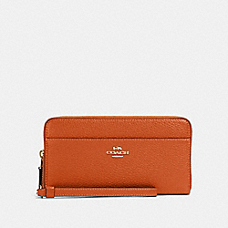 COACH 76517 Accordion Zip Wallet IM/SEDONA