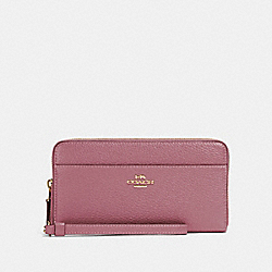 COACH 76517 - ACCORDION ZIP WALLET IM/ROSE