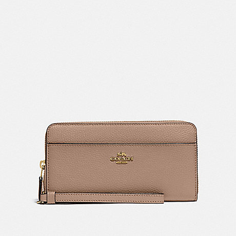 COACH 76517 ACCORDION ZIP WALLET IM/TAUPE