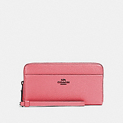 COACH 76517 - ACCORDION ZIP WALLET QB/PINK LEMONADE