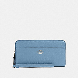 COACH 76517 Accordion Zip Wallet SV/SLATE