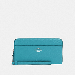 COACH 76517 Accordion Zip Wallet SV/AQUA