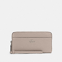 COACH 76517 Accordion Zip Wallet SV/GREY BIRCH